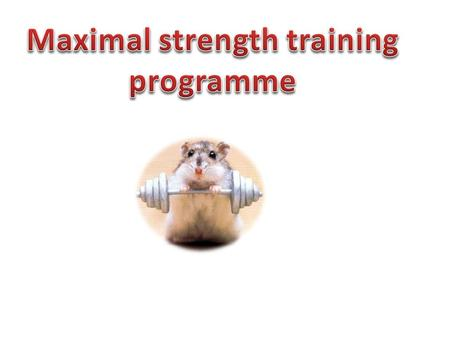 The test for maximal strength would be one rep max. this consists of one contraction of maximum force.