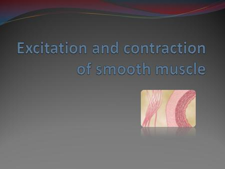 Smooth muscle  Important component of many organ systems: 1. GI 2. Ureters, uterus 3. Respiratory system - bronchi 4. Blood vessels  Not under voluntary.