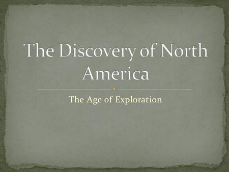 The Age of Exploration. The current year 2008, can you guess when the idea of 'trading' something first began?