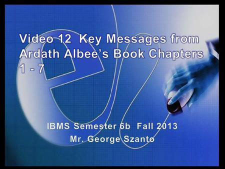 Slide 5.1. Topics Covered Highlight key learnings from chapters 1 – 7 of Ardath Albee's book Please note – listening to this lecture does NOT replace.