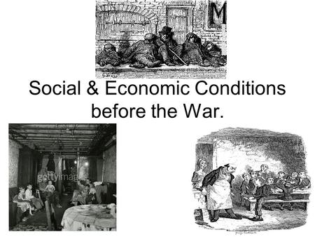Social & Economic Conditions before the War.. Before the First World War, the Scottish population changed considerably. People moved in large numbers,