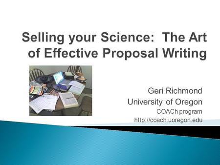 the art of writing research proposals
