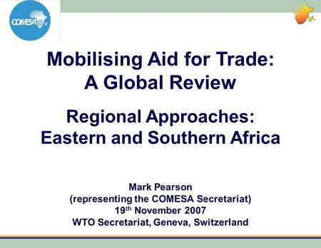 Mobilising Aid for Trade: A Global Review