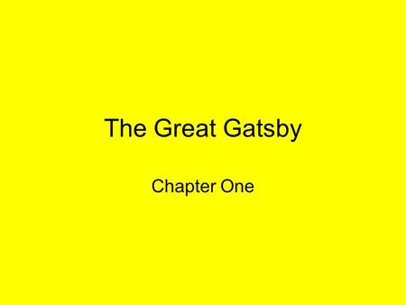a summary of the chapters in the great gatsby by f scott fitzgerald Overview the great gatsby may be the most popular classic in modern american  fiction  f scott fitzgerald's 1925 novel the great gatsby is a tragic love story,   unfolding in nine concise chapters, the great gatsby concerns the wasteful.