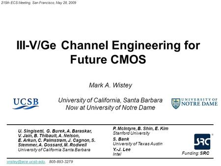 III-V/Ge Channel Engineering for Future CMOS