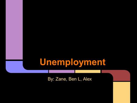 Unemployment By: Zane, Ben L, Alex. Frictional Unemployment Frictional Unemployment is a type of unemployment that occurs when people take time to find.