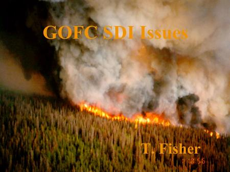 Slide 1 18-Nov-15 GOFC GOFC SDI Issues T. Fisher.