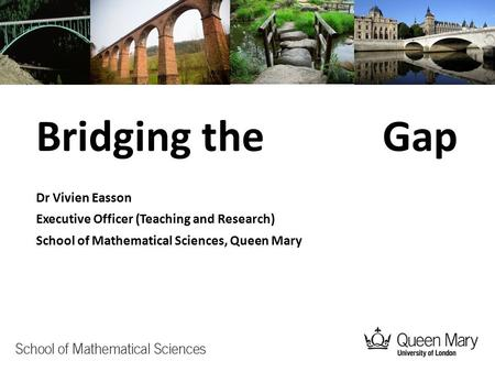 Bridging the Gap Dr Vivien Easson