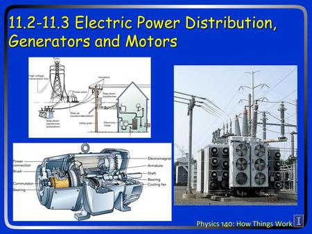 11.2-11.3 Electric Power Distribution, Generators and Motors.
