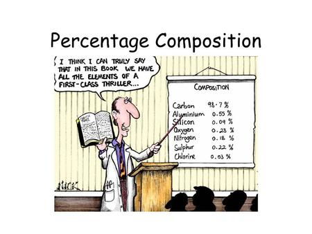 Percentage Composition. Percent Composition Compounds are ALWAYS composed of elements in fixed ratios. This is often referred to as the Law of Definite.
