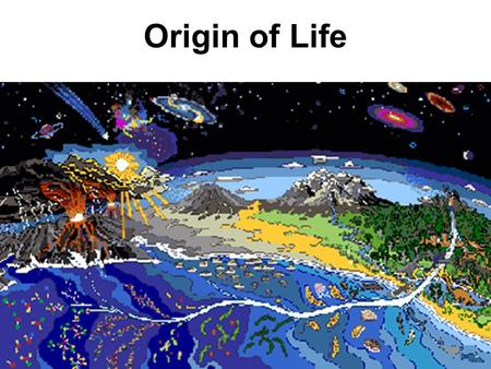 Origin of Life. Universe formed 15 billion years ago (Big Bang) Galaxies formed from stars, dust and gas Earth formed 4.6 billion years ago.