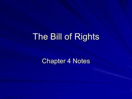 The Bill of Rights Chapter 4 Notes. The First Amendment Freedom of Religion *Intolerance of different beliefs is what drove many of the early settlers.