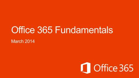 Course Modules Office 365 ProPlus Deployment for IT Pros 01 | Introduction An overview of Office 365 02 | Office 365 for IT Professionals Get an inside.