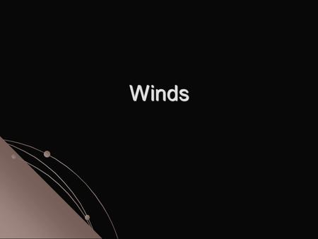 Winds. Wind is the horizontal movement of air from an area of high pressure to an area of low pressure. All winds are caused by differences in air pressure.