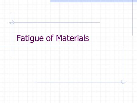 Fatigue of Materials. Fatigue Definition: Damage accumulated through the application of repeated stress cycles Variable amplitude loadings cause different.