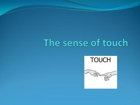 The sense of touch is the most important sense you could have. In everything you do, you need to touch and feel. Your touch abilities can never go away.