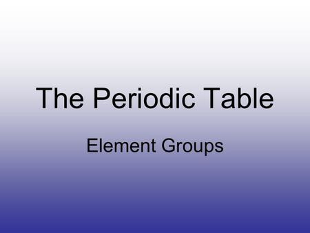 Fundamentals of periodic table ppt download the periodic table element groups most important the periodic table of elements is much more urtaz Image collections