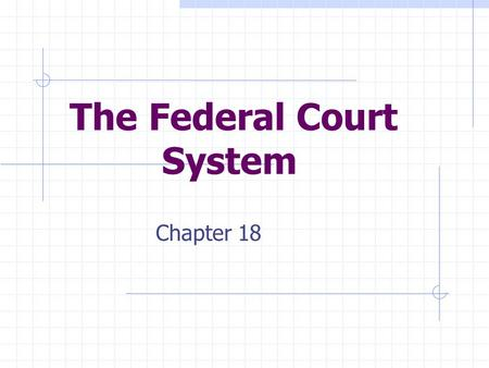 The Federal Court System Chapter 18. Section 1: The National Judiciary The Creation of a National Judiciary Articles of Confederation  no national courts.