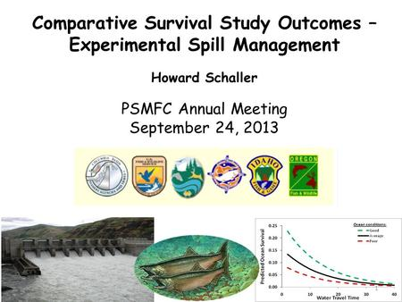 Howard Schaller PSMFC Annual Meeting September 24, 2013 Comparative Survival Study Outcomes – Experimental Spill Management 1.