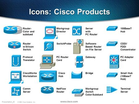 Icons: Cisco Products Router- Color and subdued Workgroup Director