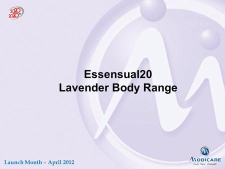 Essensual20 Lavender Body Range Launch Month – April 2012.