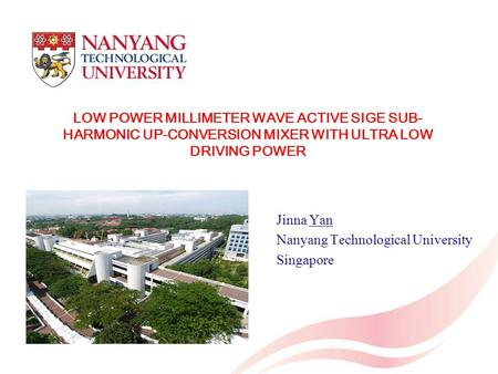 Jinna Yan Nanyang Technological University Singapore