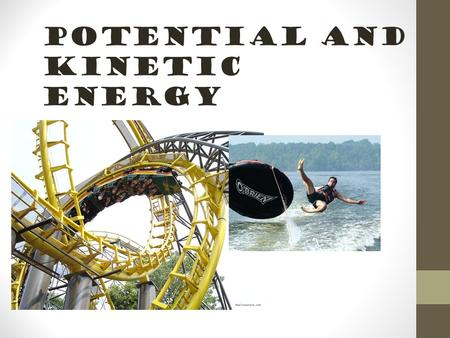 Potential and Kinetic Energy Explore Activity Page 123.