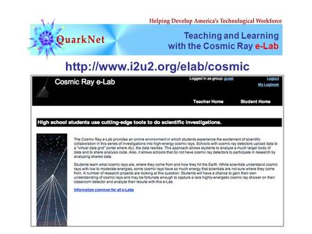Teaching and Learning with the Cosmic Ray e-Lab