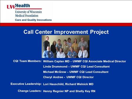 Call Center Improvement Project