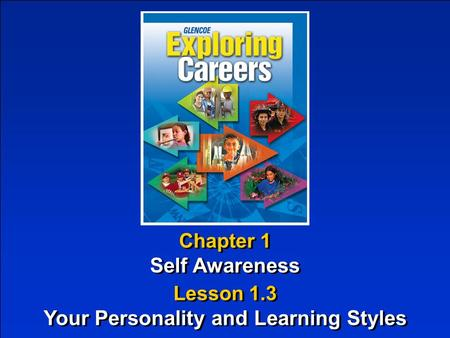 Chapter 1 Self Awareness Chapter 1 Self Awareness Lesson 1.3 Your Personality and Learning Styles Lesson 1.3 Your Personality and Learning Styles.