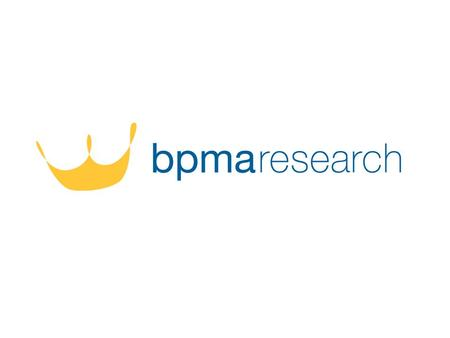 2 BPMARESEARCH The survey was commissioned by the BPMA and individual in depth interviews were carried out by an independent research agency in April.