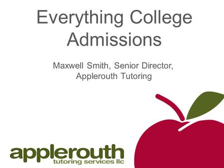 Everything College Admissions
