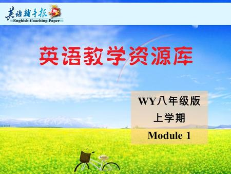 WY 八年级版 上学期 Module 1 Unit 1 Try not to translate every word. Unit 1 Try not to translate every word. try to 尝试做某事.
