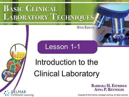 Introduction to the Clinical Laboratory