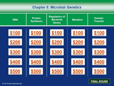 Chapter 8: Microbial Genetics