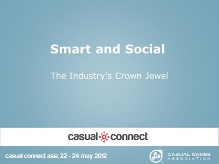 Smart and Social The Industry's Crown Jewel. 2 Introduction Senior Research Analyst at Robert W. Baird & Co. Baird is one of the largest private investment.