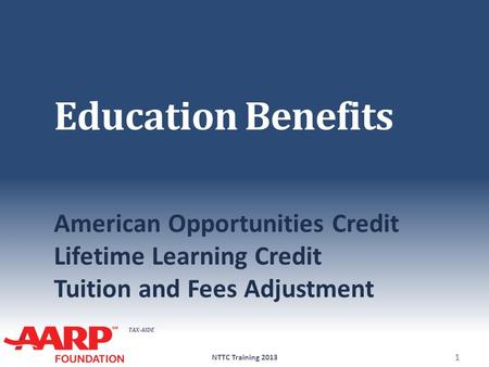 Education Benefits American Opportunities Credit