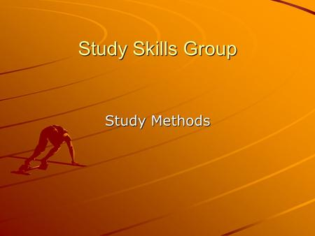 Study Skills Group Study Methods. 1. Note Cards Great for vocabulary – put the word on one side and the definition on the opposite side Make up fill in.