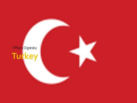 Tiffany Oglesby.  For the students to get a historical understanding of the country Turkey.