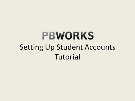 Setting Up Student Accounts Tutorial. You will need access to a printer to complete this step You can set up accounts for your students by clicking the.