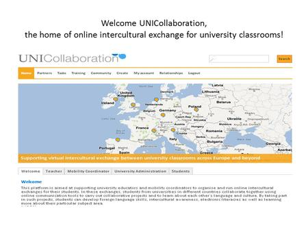 Welcome UNICollaboration, the home of online intercultural exchange for university classrooms!