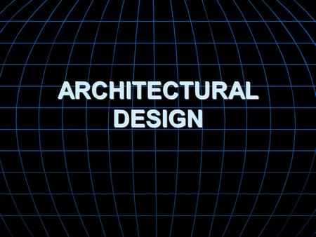 ARCHITECTURAL DESIGN. Why is Architecture Important? Representations of software architecture are an enabler for communication between all parties (stakeholders)