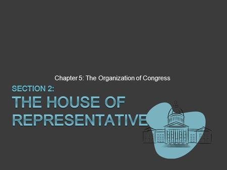 "Chapter 5: The Organization of Congress. Rules for Lawmaking  ""Each House may determine the Rules of its Proceedings."" (Art. 1 Section V)  Complex Rules."