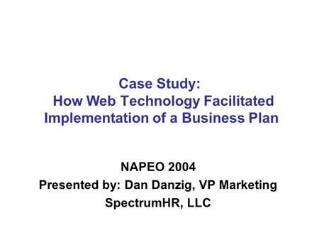 Case study on business plan