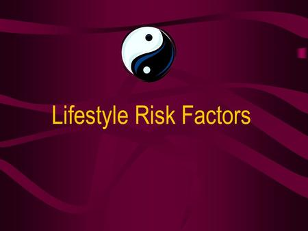 Lifestyle Risk Factors. Coronary heart disease (CHD) remains the major cause of death in Australia, accounting for 4 out of every 10 deaths that occur.