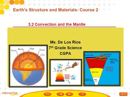 3.2 Convection and the Mantle Earth's Structure and Materials- Course 2 Ms. De Los Rios 7 th Grade Science CGPA.