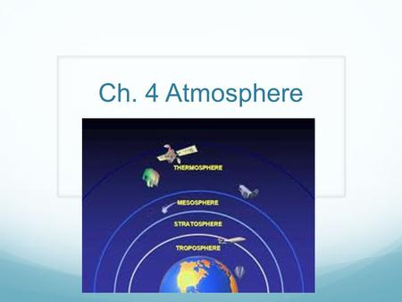 Ch. 4 Atmosphere. Section 1 Review 1. Earth's Atmosphere- thin layer that keeps the Earth from getting too hot or too cold.