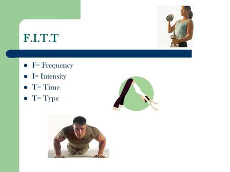 F.I.T.T F= Frequency I= Intensity T= Time T= Type.