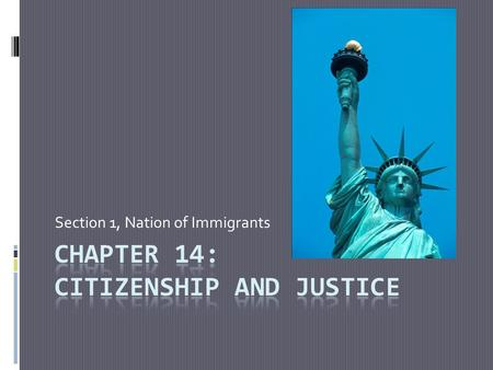 Section 1, Nation of Immigrants. Aliens  A person who lives in a country and is not a citizen of that country  An Immigrant is someone who comes to.