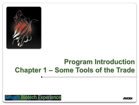 Program Introduction Chapter 1 – Some Tools of the Trade.